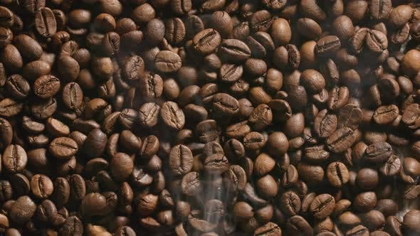 Thumbnail for Roasted coffee beans with a smoke