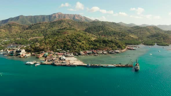 Thumbnail for Sea Port on the Island of Busuanga, Philippines,Coron