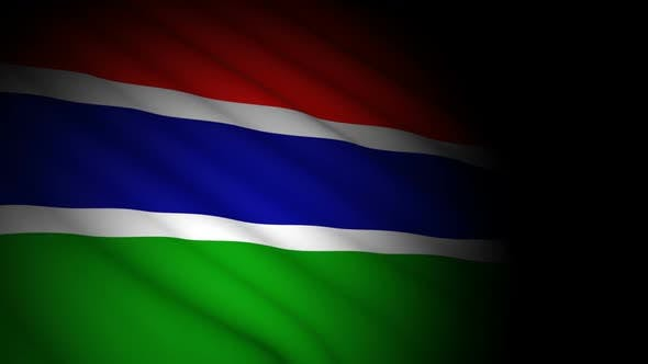 Thumbnail for Gambia Flag Blowing in Wind