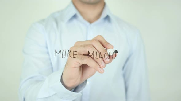 Thumbnail for Make Millions, Writing On Screen