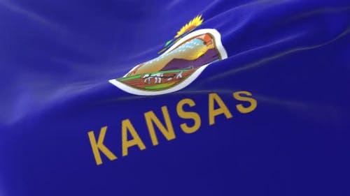 Flag of American State of Kansas