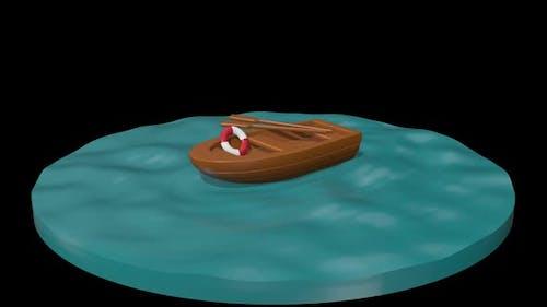 Cartoon Boat 01