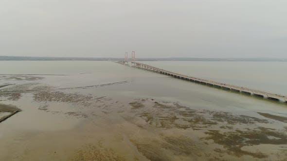 Suspension Cable Bridge in Surabaya
