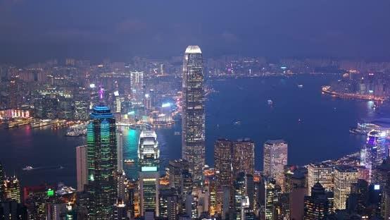 Thumbnail for Hong Kong city at night