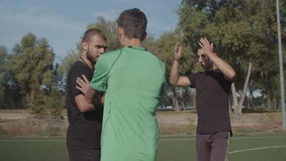 Thumbnail for Soccer Team Arguing with Referee for Dismissal
