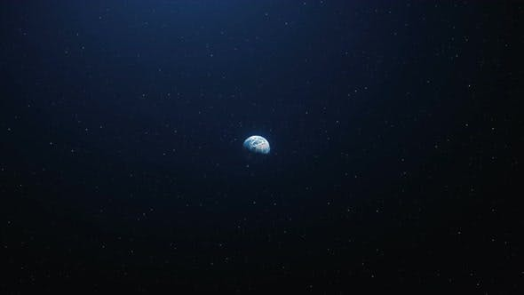 Thumbnail for A Beautiful Flight in Space To the Earth From the Moon