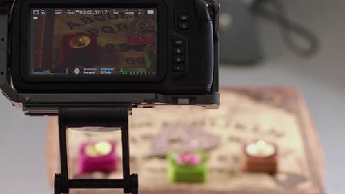 Footage Of Video Camera Screen Moving On Slider