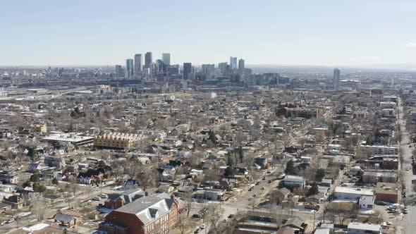 Cover Image for Rise Up Aerial Reveal Denver Colorado Usa City Center