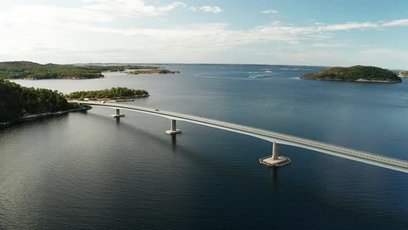 Thumbnail for Aerial View of Road Bridge Connecting Stabblandet Island with Ertvagoya Island