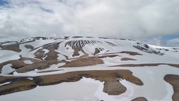 Thumbnail for Aerial View of Snowy Volcanic Mountains