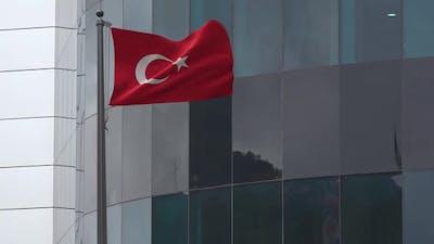 Turkey Flag Background 2K