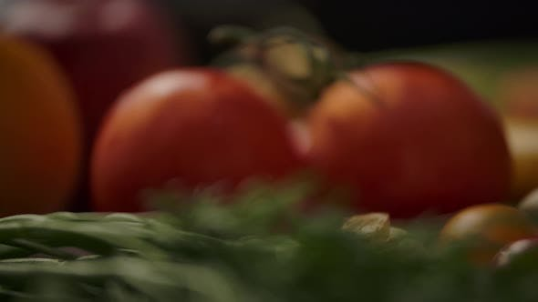 Thumbnail for Fruits and Vegetables in Kitchen. Vegetarian Launch or Dinner Concept.