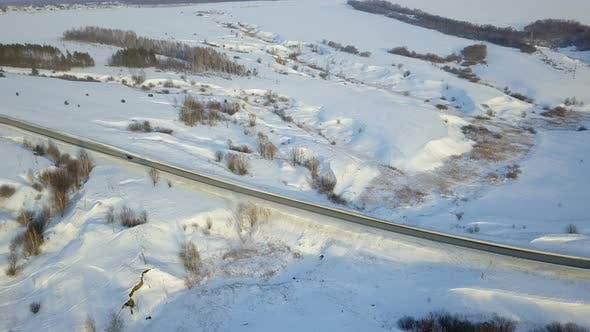 Thumbnail for Car On Winter Country Road