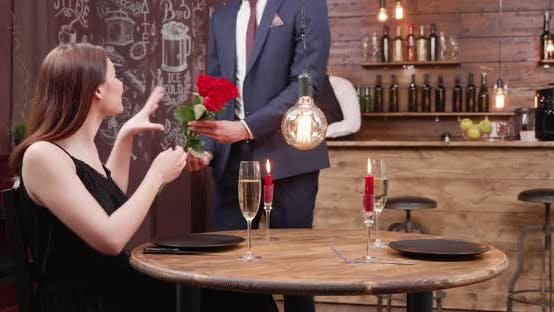 Thumbnail for Young Man Is Late at a Date and Offers Roses To His Girl
