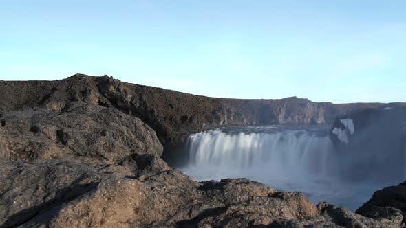 Thumbnail for Lava rocks time lapse slide from the Godafoss waterfall