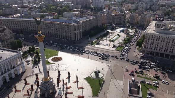 Thumbnail for Ukraine: Independence Square, Maidan. Aerial View