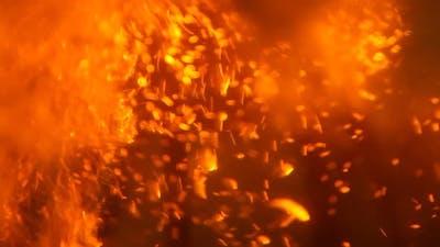 Burning sparks