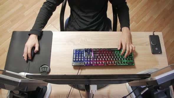 Computer Gaming Top View