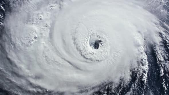 Thumbnail for Hurricane Storm, Tornado, Satellite View.