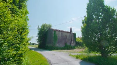Abandoned House Among the Green Nature