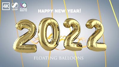 Inflated New Year 2022 Balloons