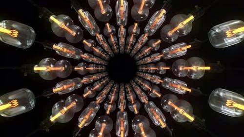 Light Bulb Tunnel 02 4k