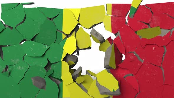 Thumbnail for Crushing Concrete Wall with Flag of Senegal