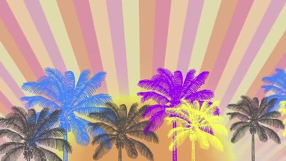Retro Palms Background