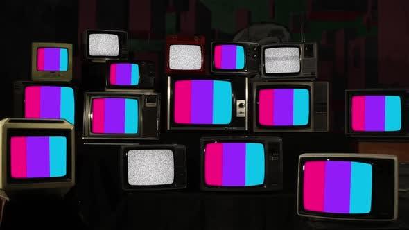 Androgyne Gender Pride Flags on Retro TV Stack Installation.