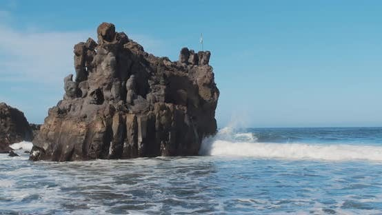 Thumbnail for Wild Atlantic Ocean in Tenerife, Canary Islands, Spain.