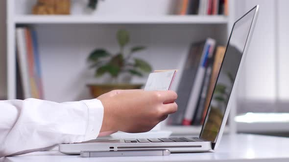 Thumbnail for Online Shopping. Many Different Credit Cards. Close Up