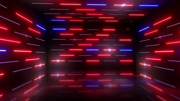 Dancing 3d Light Room