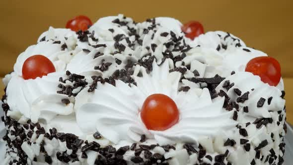 Thumbnail for Cream Cake with Chocolate Sprinkles