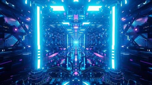 Couloir lumineux Sci Fi