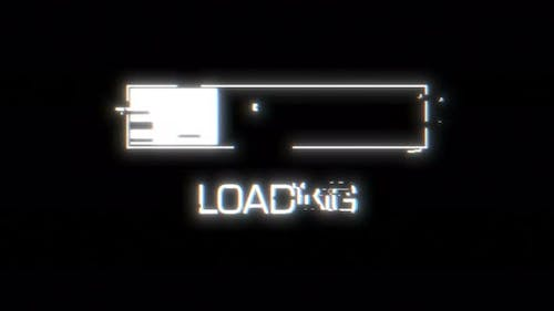 Loading Glitch for Video Game Design Design Element Able To Loop Seamless