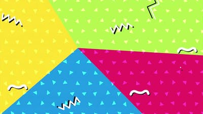 Abstract geometric zigzag