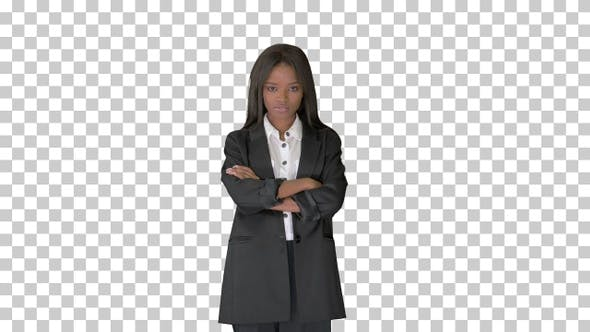 Thumbnail for Confident african american businesswoman, Alpha Channel