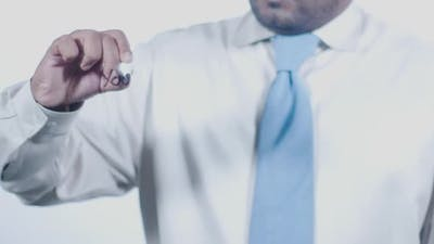 Asian Businessman Writes Your Dream Job