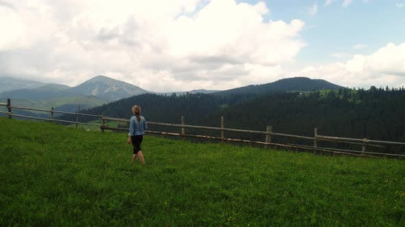 Thumbnail for Woman Making Photo of Summer Meadow