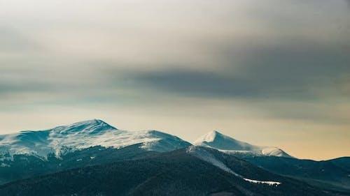 Beautiful Mountain Sunny Evening , Mountain Under Sky