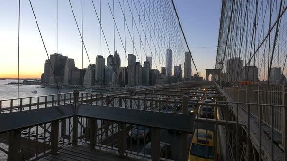 Thumbnail for Cars driving on Brooklyn Bridge