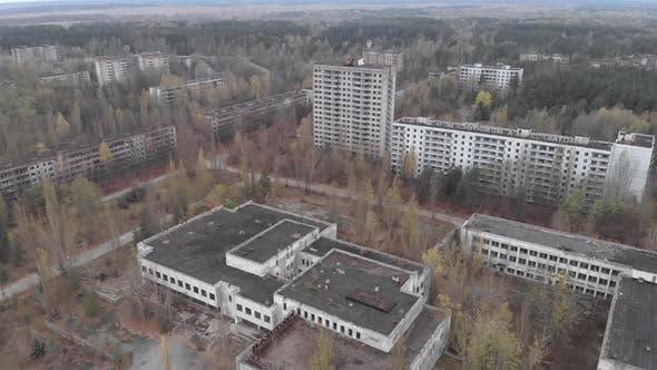 Chernobyl Exclusion Zone, Pripyat, Aerial