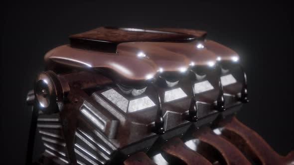 Thumbnail for Close Up Detail of Car Engine