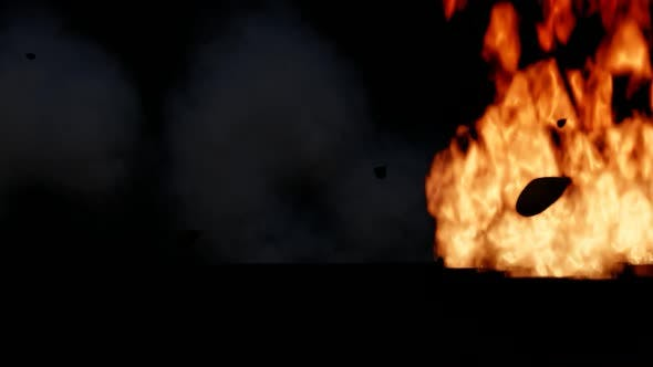 Thumbnail for Luxury Sports Car Amidst Flames