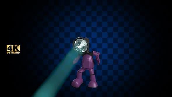 3D Szene Licht Tanz