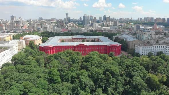 University Red Building