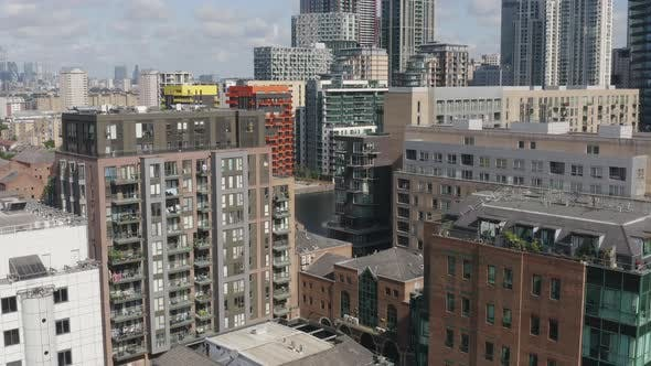 Thumbnail for Flight in Between Modern Buildings