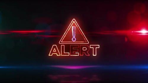 Warnung Warnung Neon-Symbol abstrakte schleiparbare Animation