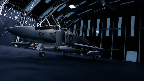 Thumbnail for Fighter Jet in the Hangar