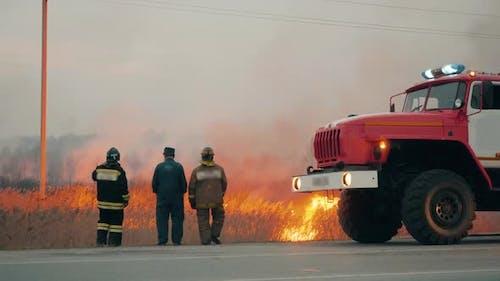 Fire Engine Life Rescue Brigade Emergency Event